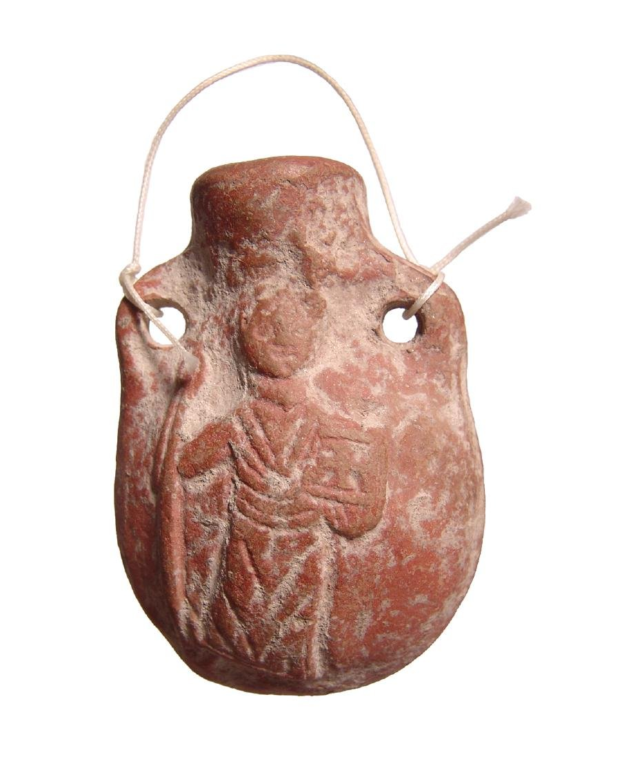 A Byzantine orange-ware pilgrim's flask, Egypt - 2