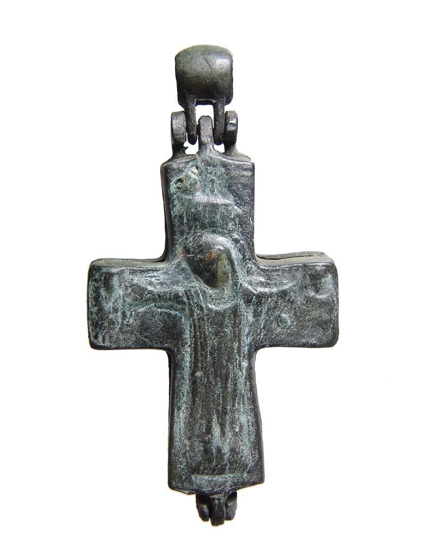 A large Byzantine bronze reliquary cross - 2