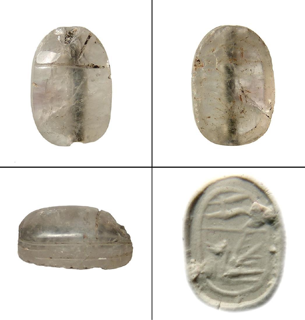 An Egyptian rock crystal scarab, Middle Kingdom