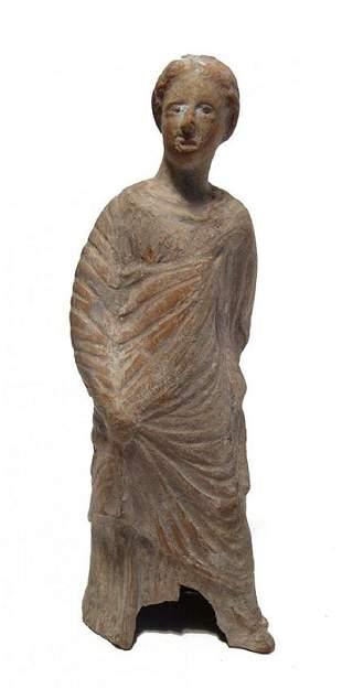 A nice Greek terracotta figure of a woman