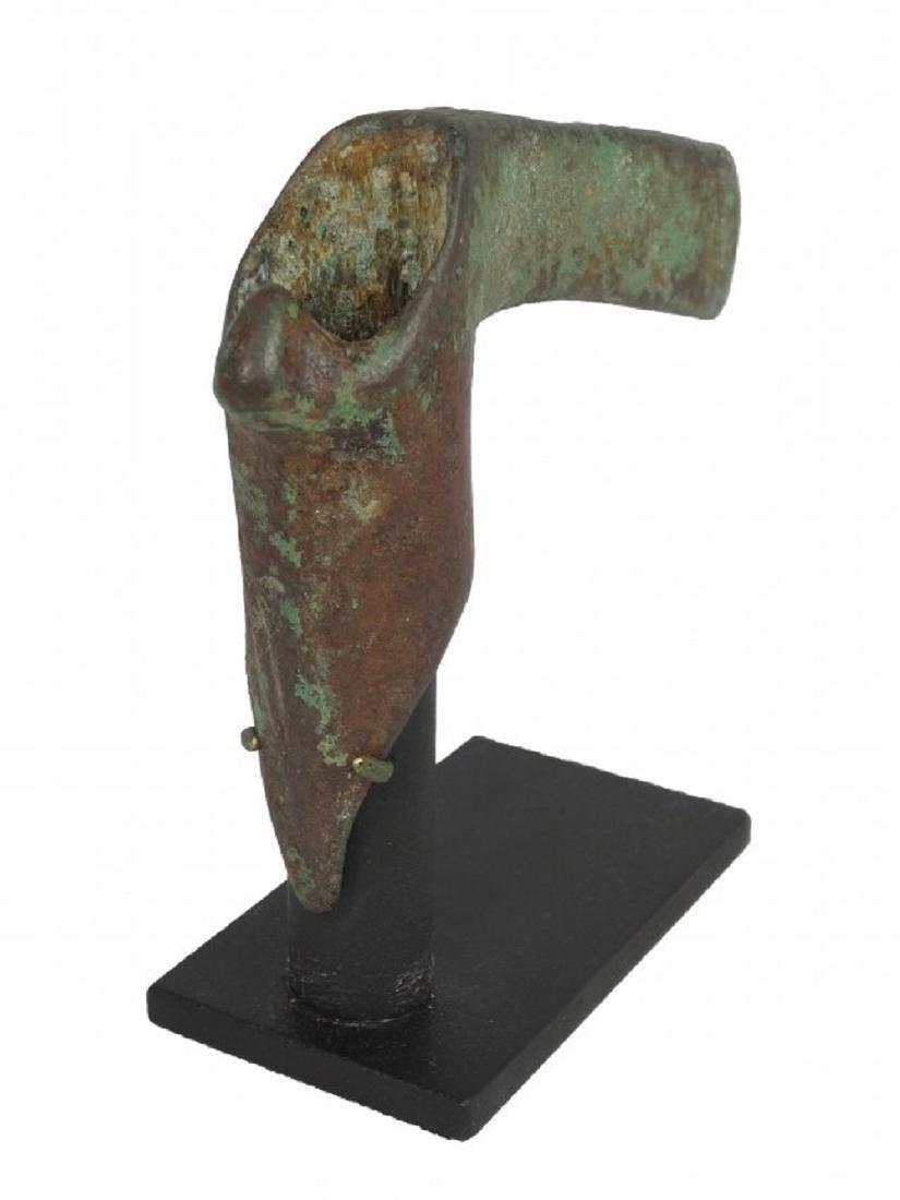 A Near Eastern bronze zoomorphic adze - 3