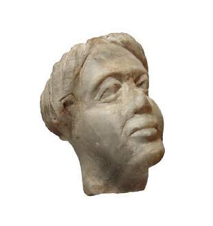 A Roman gray marble head of a woman
