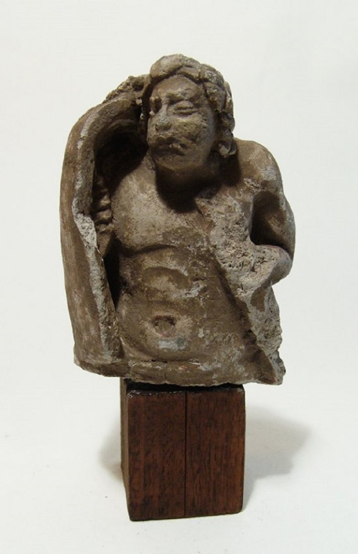 A Medieval stucco figure of a soldier