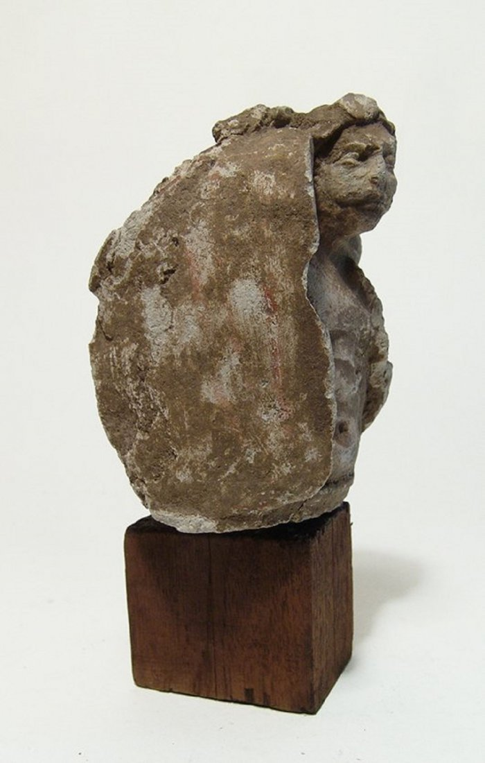 A Medieval stucco figure of a soldier - 2