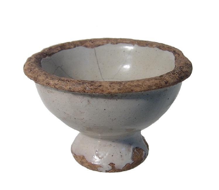 A trio of glazed Islamic - Asian pottery items - 3