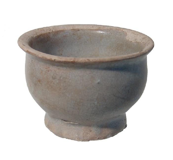 A trio of glazed Islamic - Asian pottery items - 4