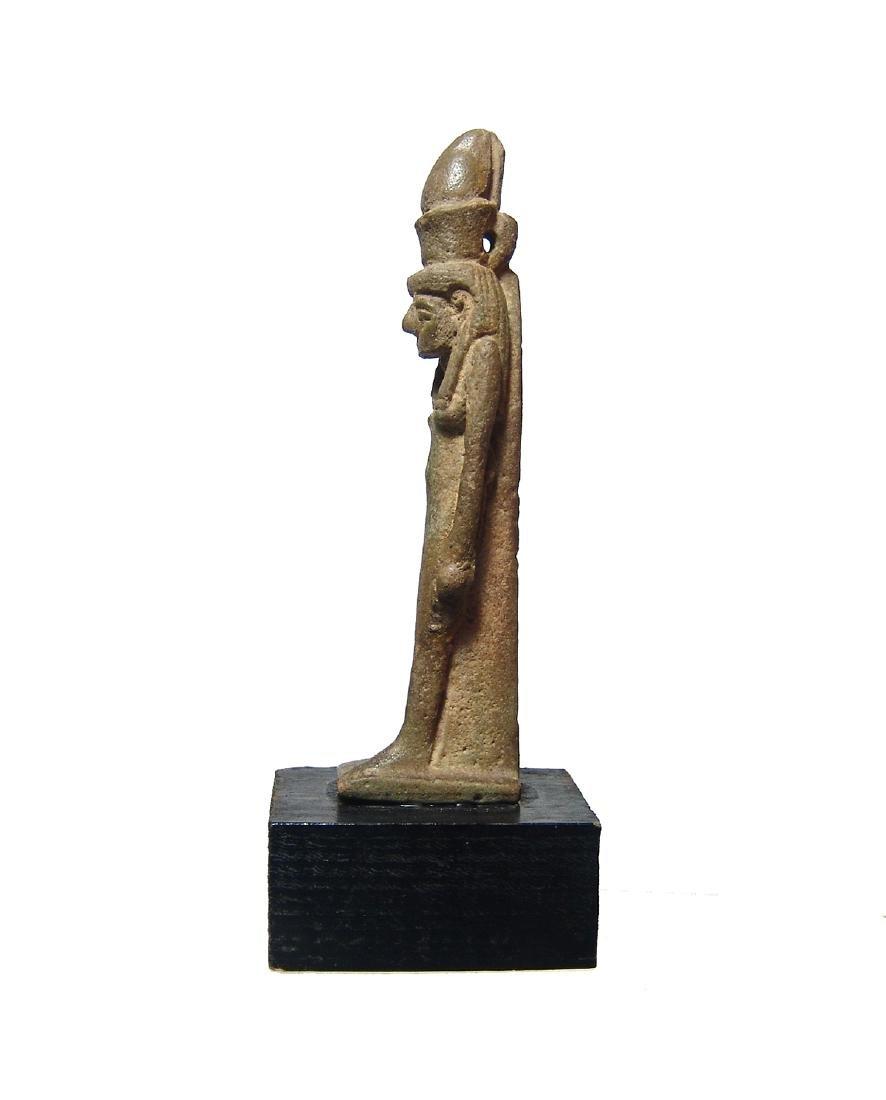 Beautiful Egyptian faience amulet of the goddess Mut - 3