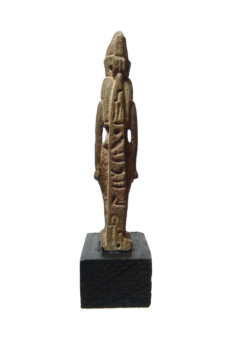 Beautiful Egyptian faience amulet of the goddess Mut - 4