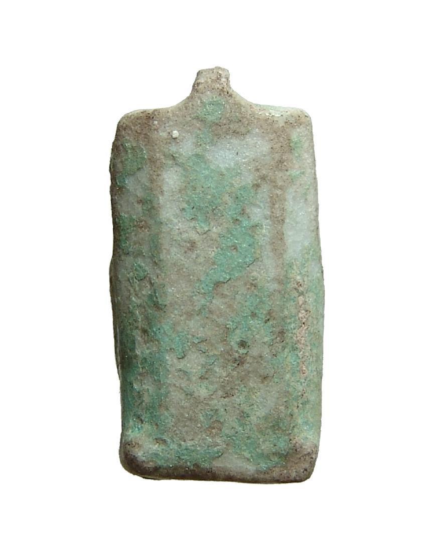 An Egyptian faience plaque of the Triad - 4