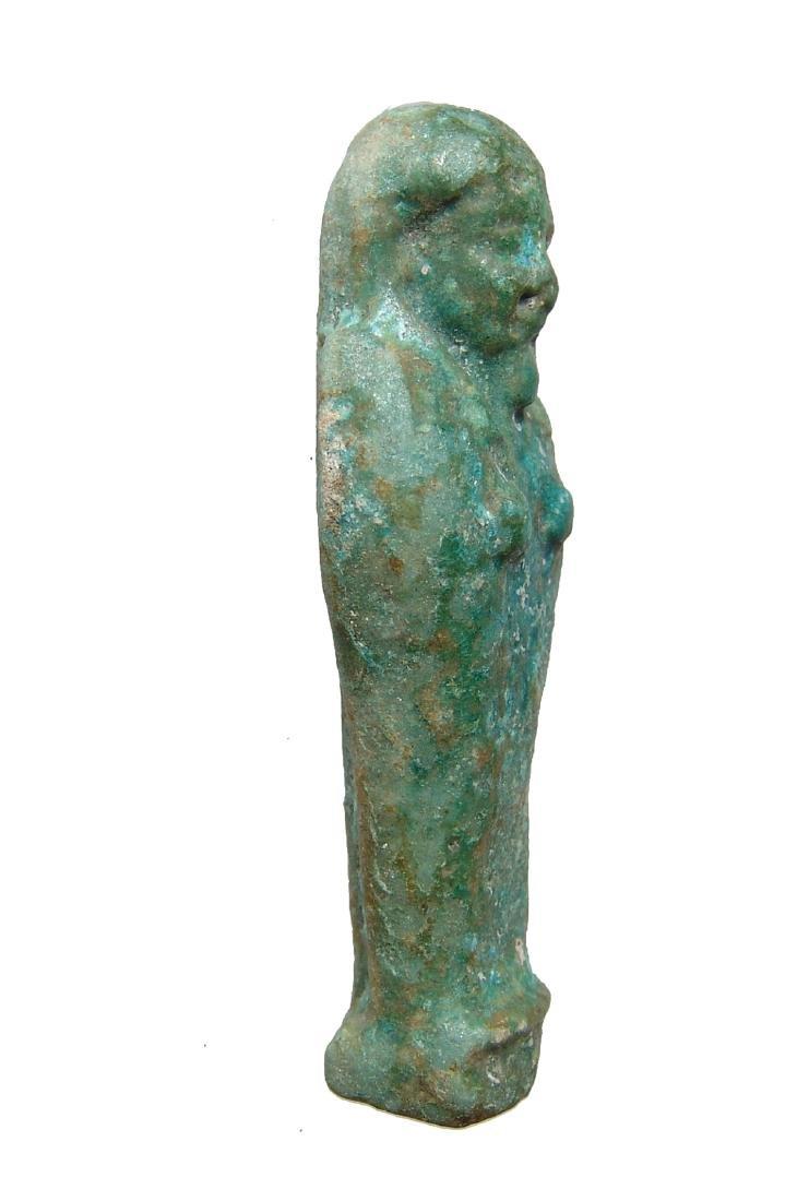 An Egyptian blue-green faience ushabti - 2