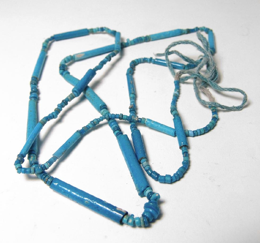 A gorgeous strand of Egyptian faience beads
