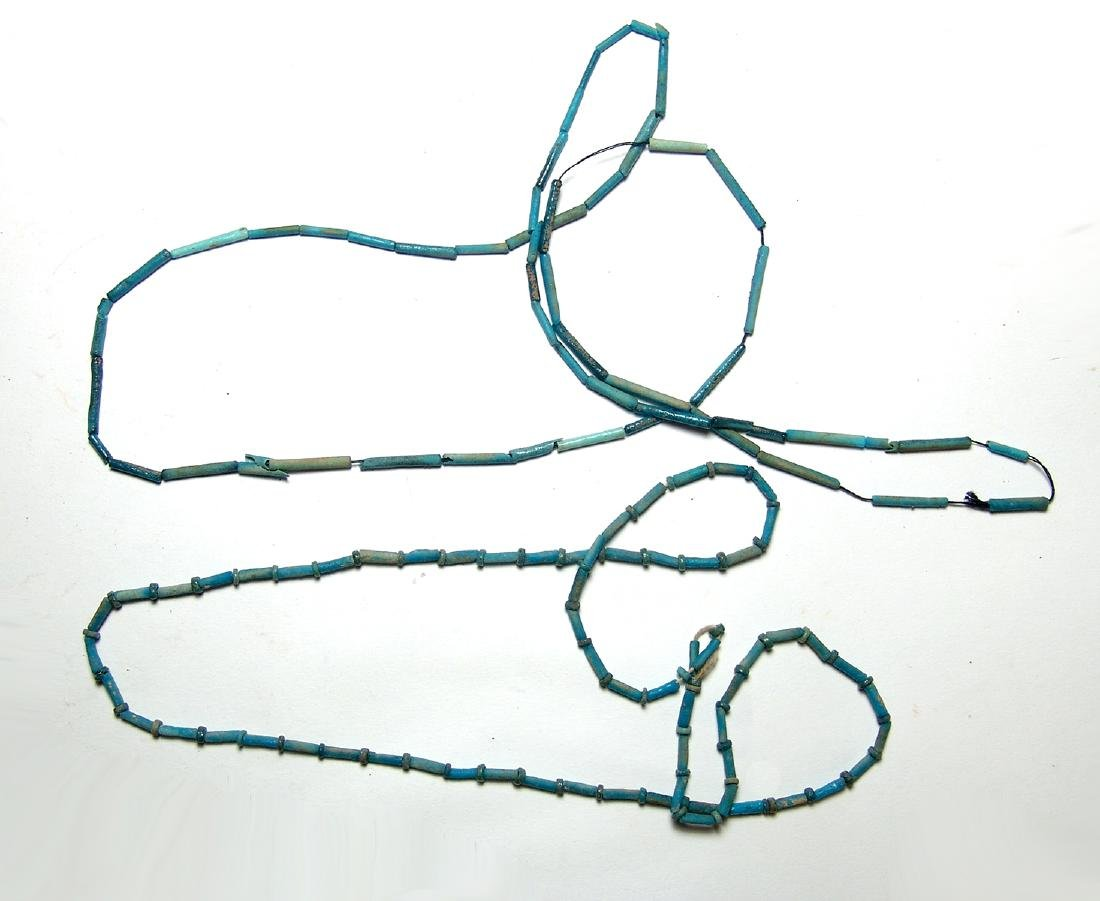 A lovely pair of Egyptian faience beaded necklaces