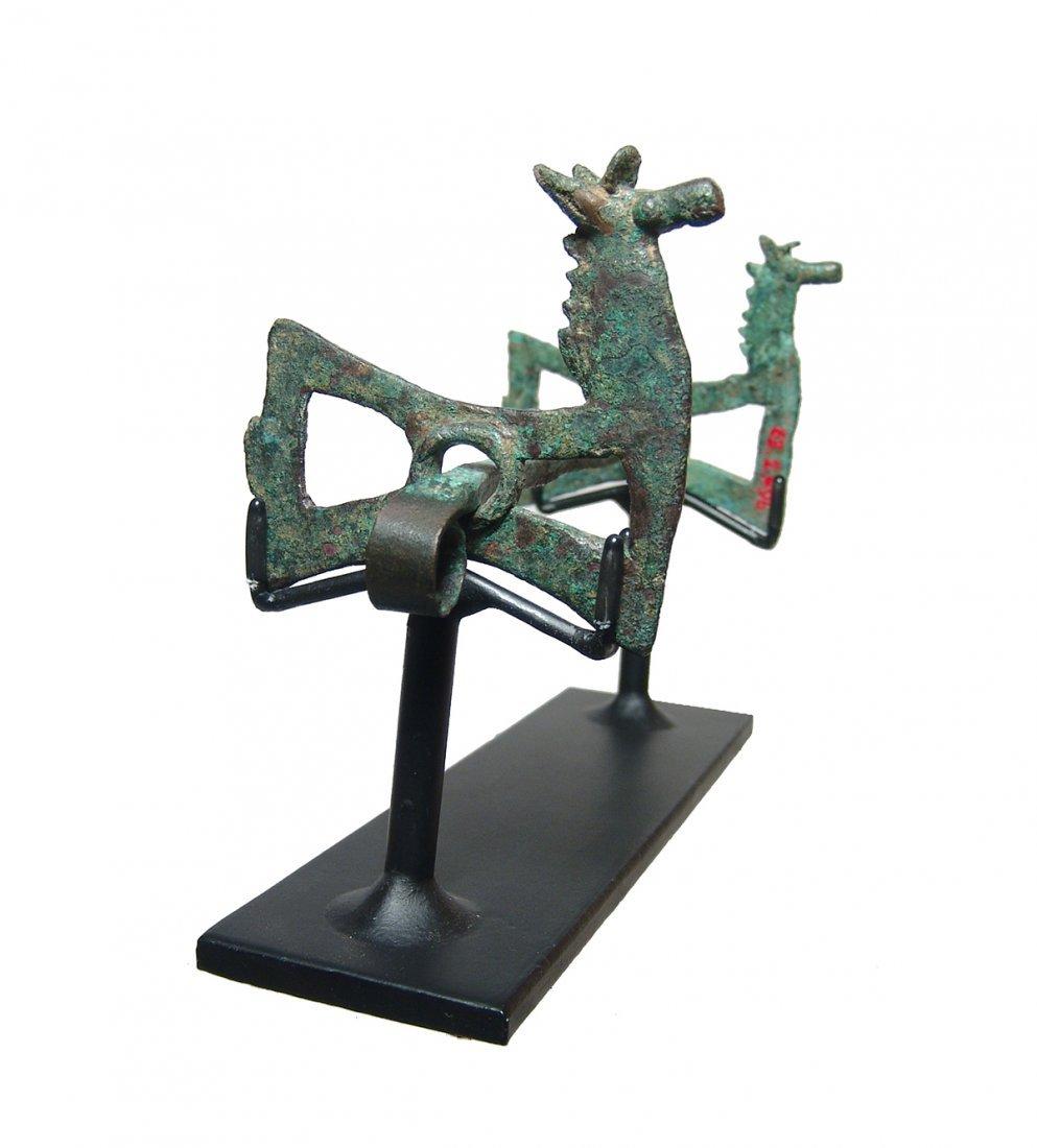 Near Eastern bronze horse bit with cheek pieces