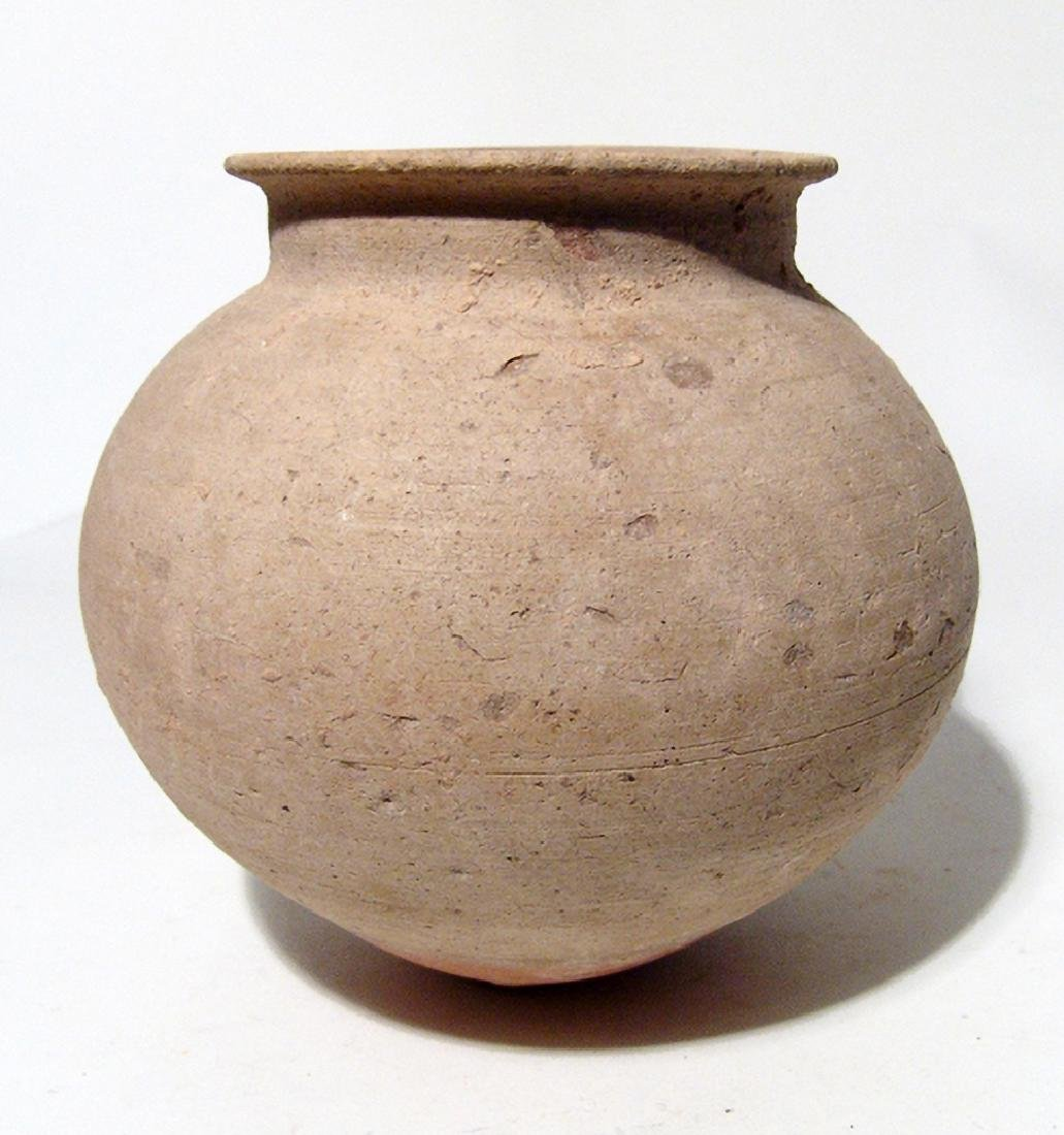 An elegant ovoid jar from the Holy Land