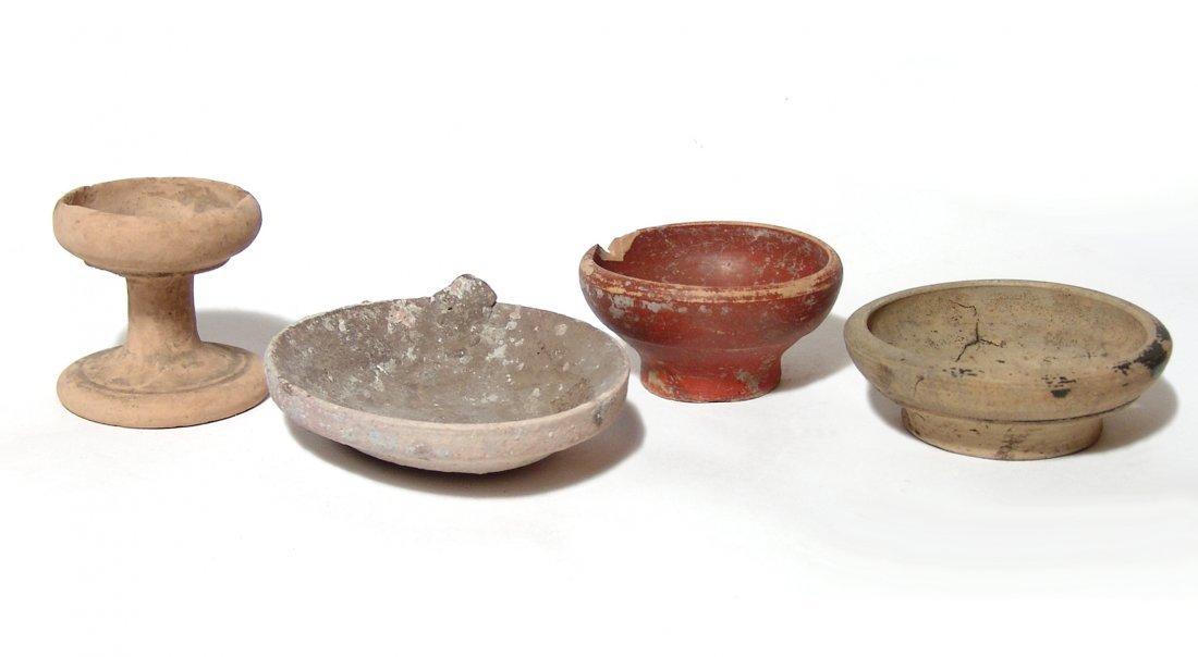 A lot of 4 Greek ceramic cellars