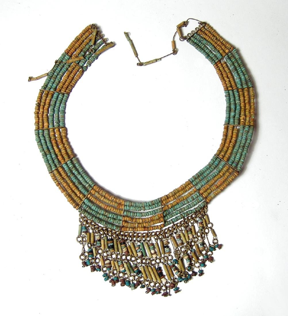 An antique beaded collar in ancient Egyptian style