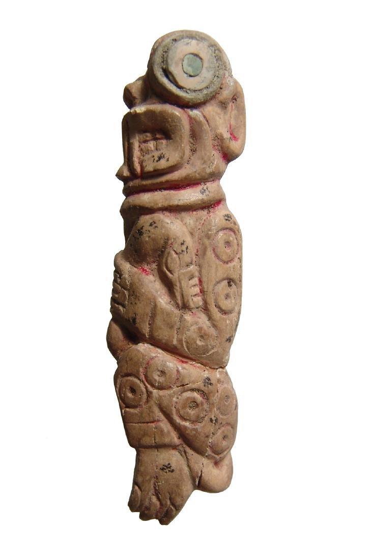 A beautiful late Chavin bone carving