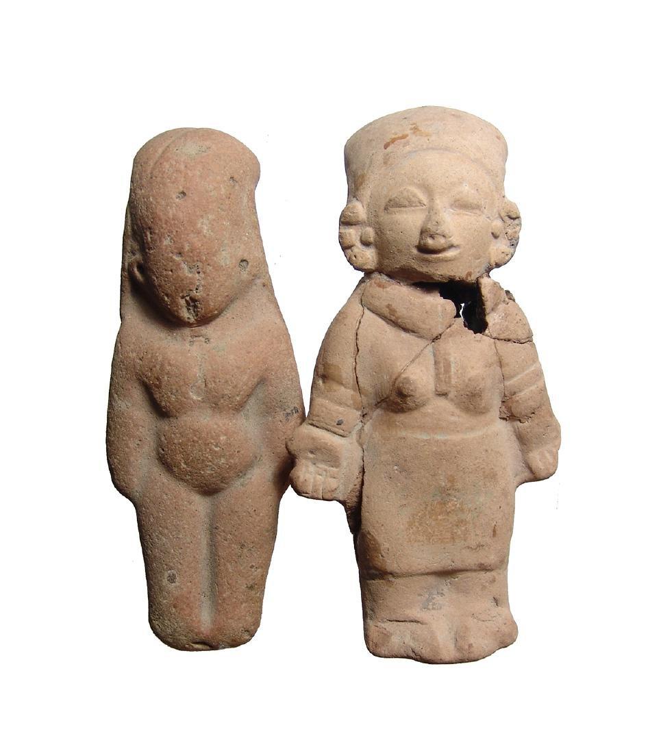 A pair of Jamacoaque/La Tolita ceramic figures