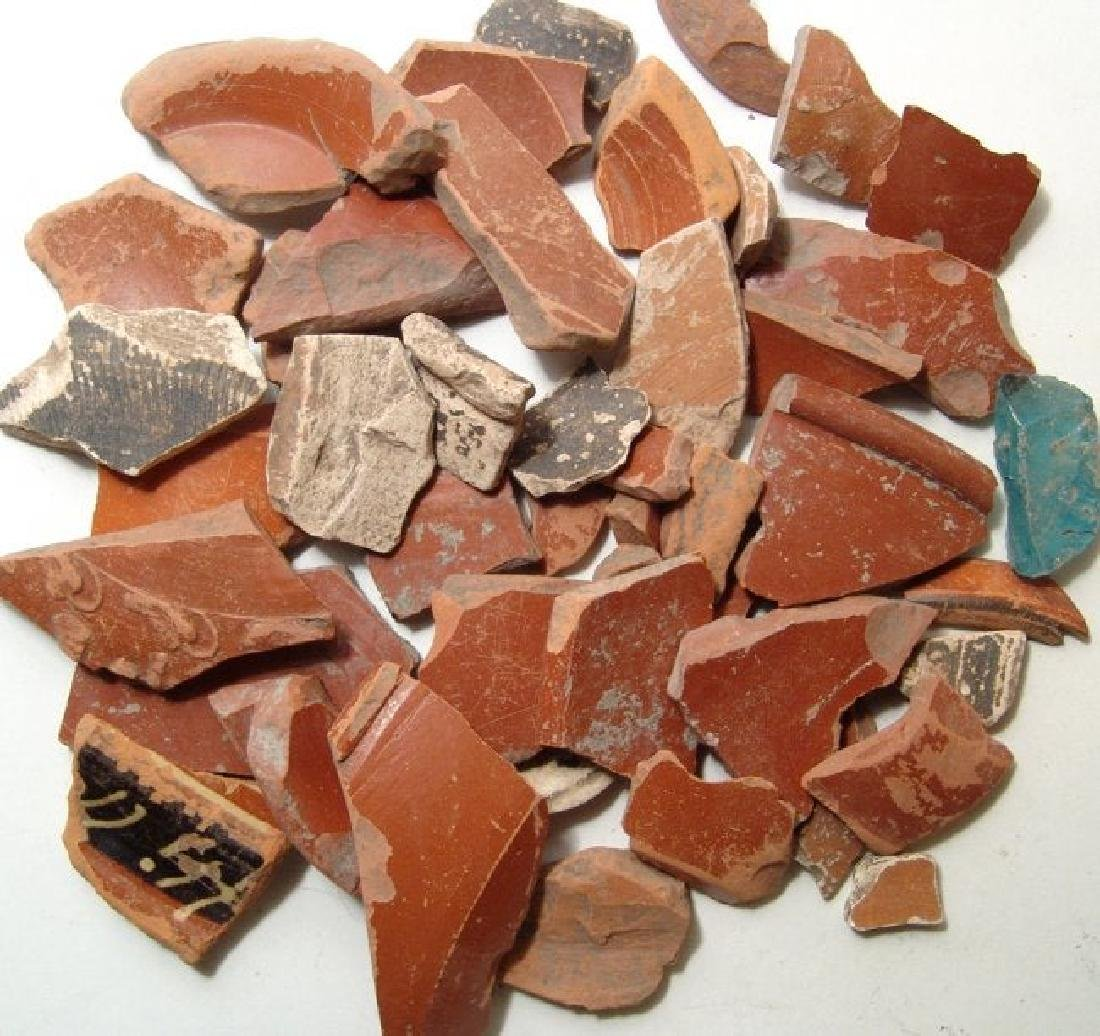 A group of Greek and Roman pottery sherds