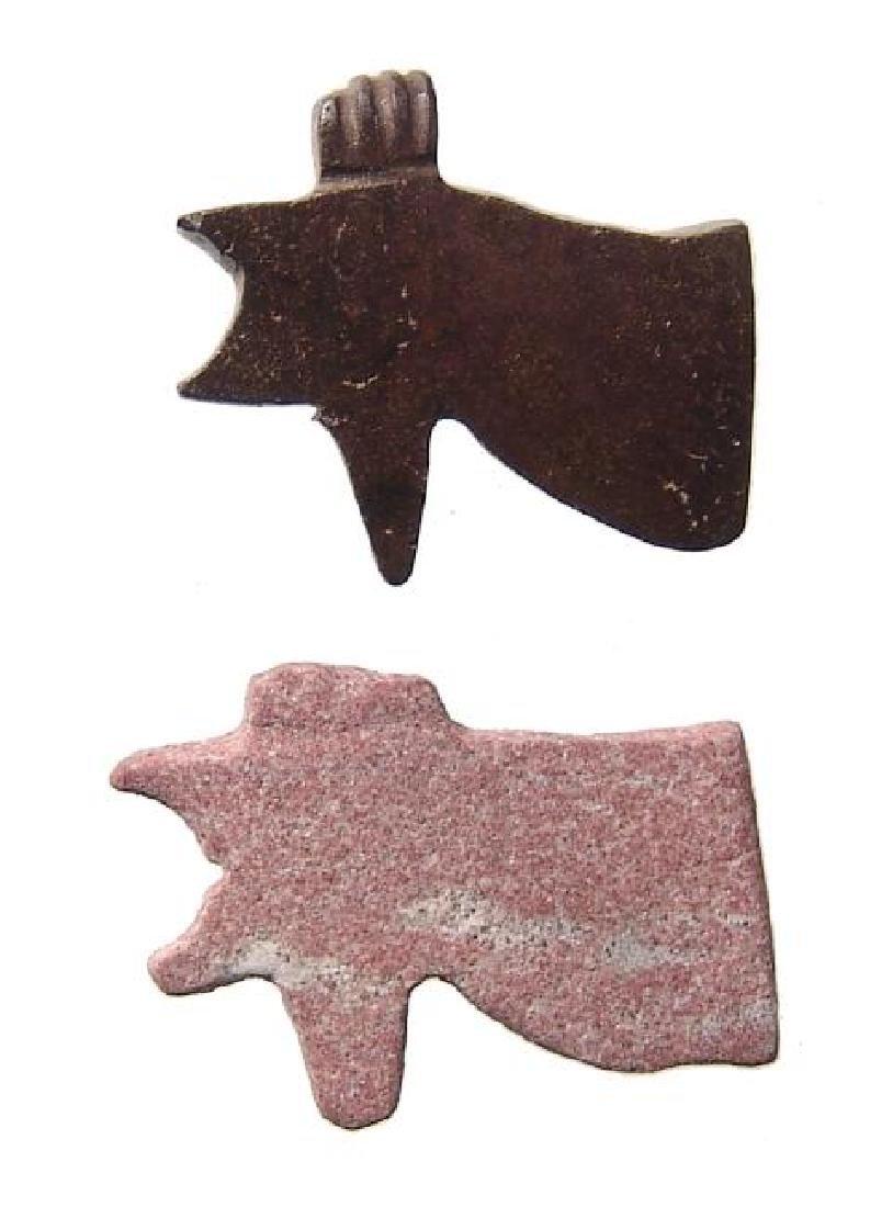 Pair of Egyptian Wedjat or 'Eye of Horus' amulets
