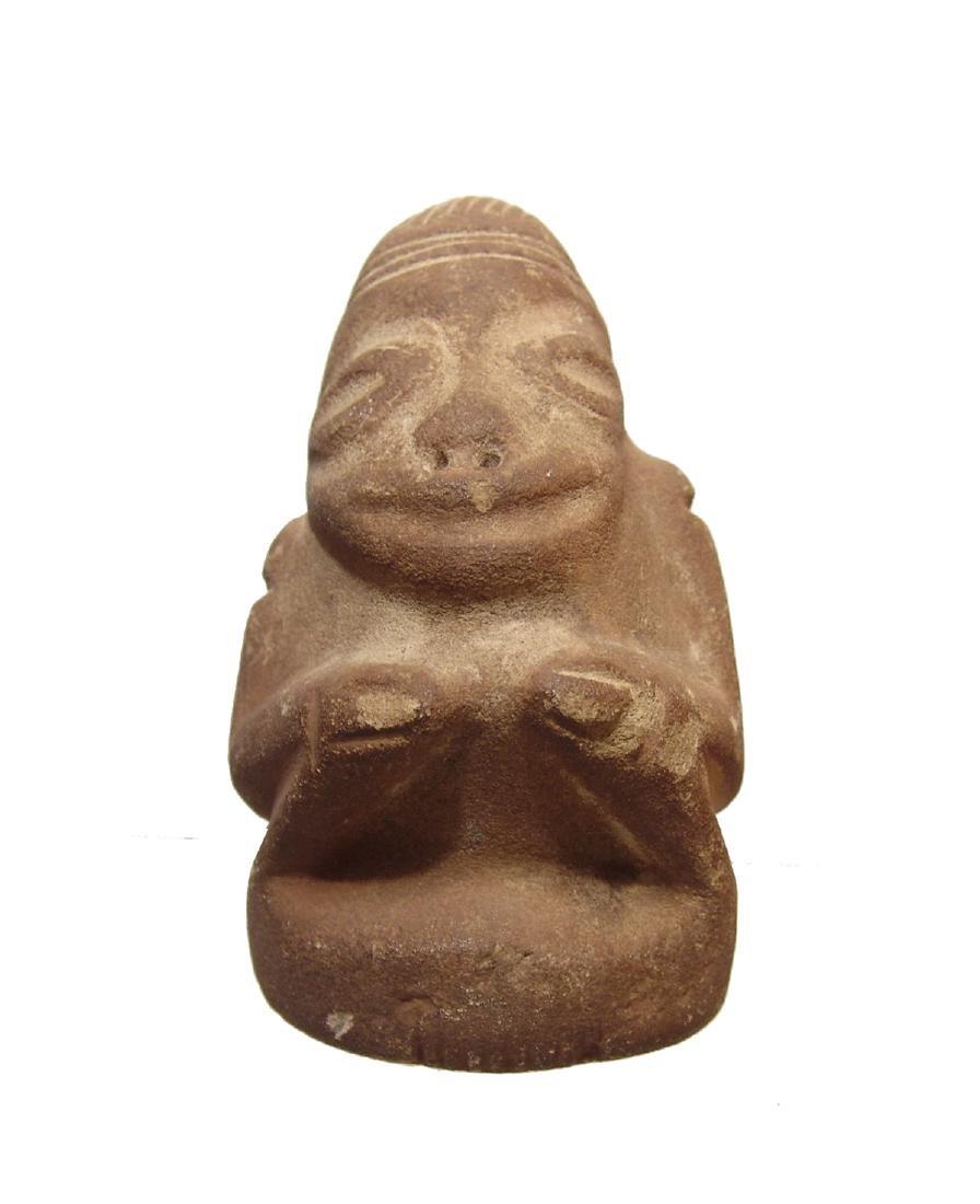 A Pre-Columbian stone figure