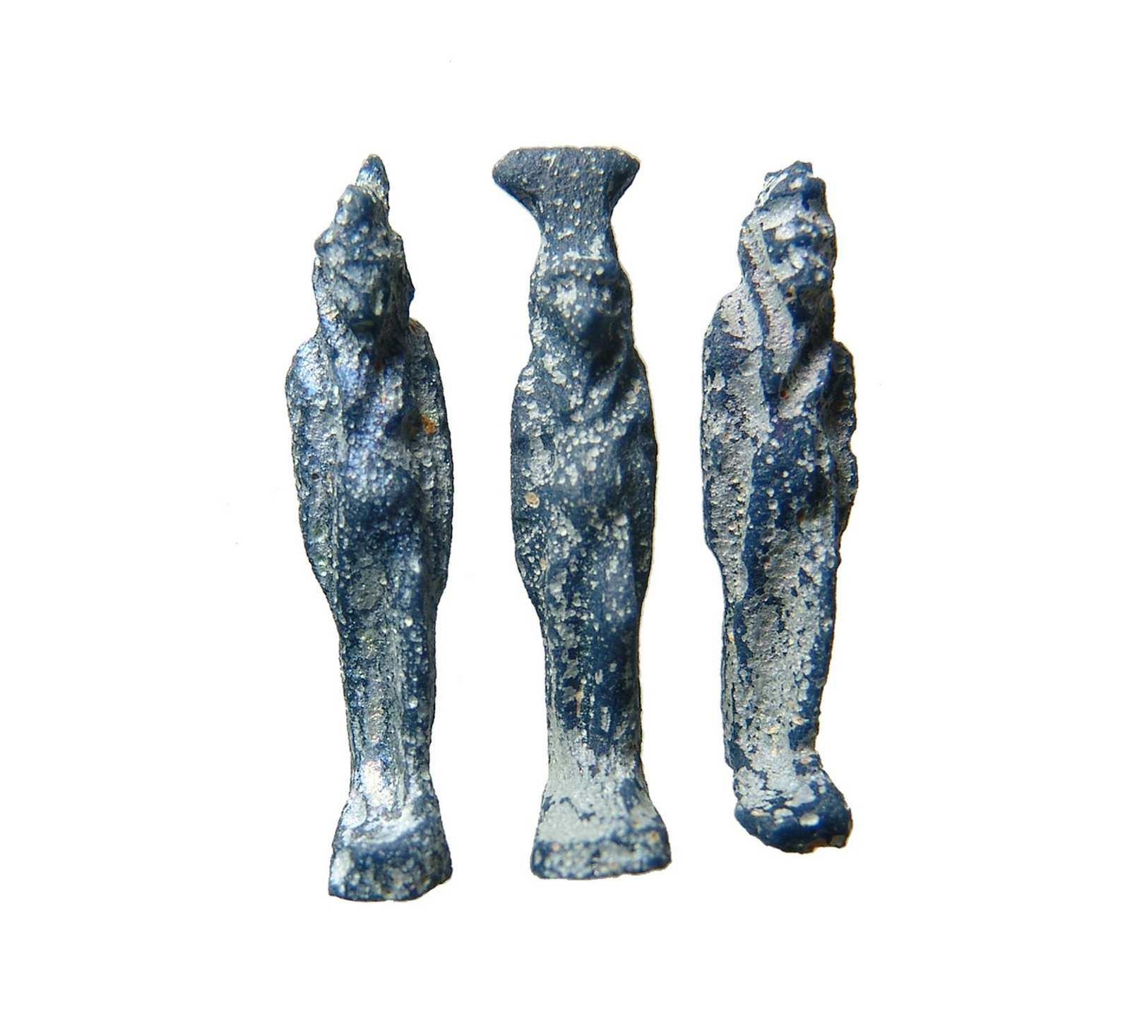 A group of 3 Egyptian glass amulets or inlays