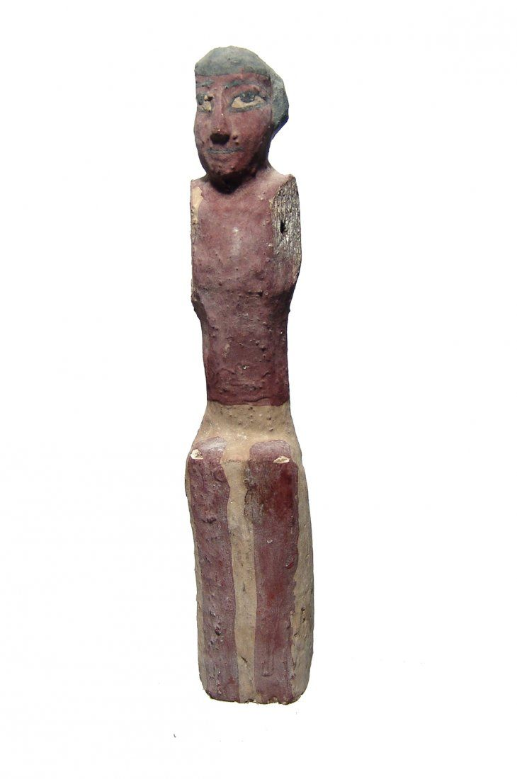 A nice Egyptian wooden figure, Middle Kingdom