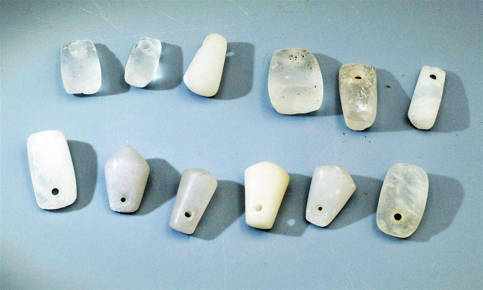 Group of 12 Tairona crystal pendants from Colombia
