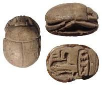 Egyptian scarab w Sphinx  Tuthmosis III cartouche