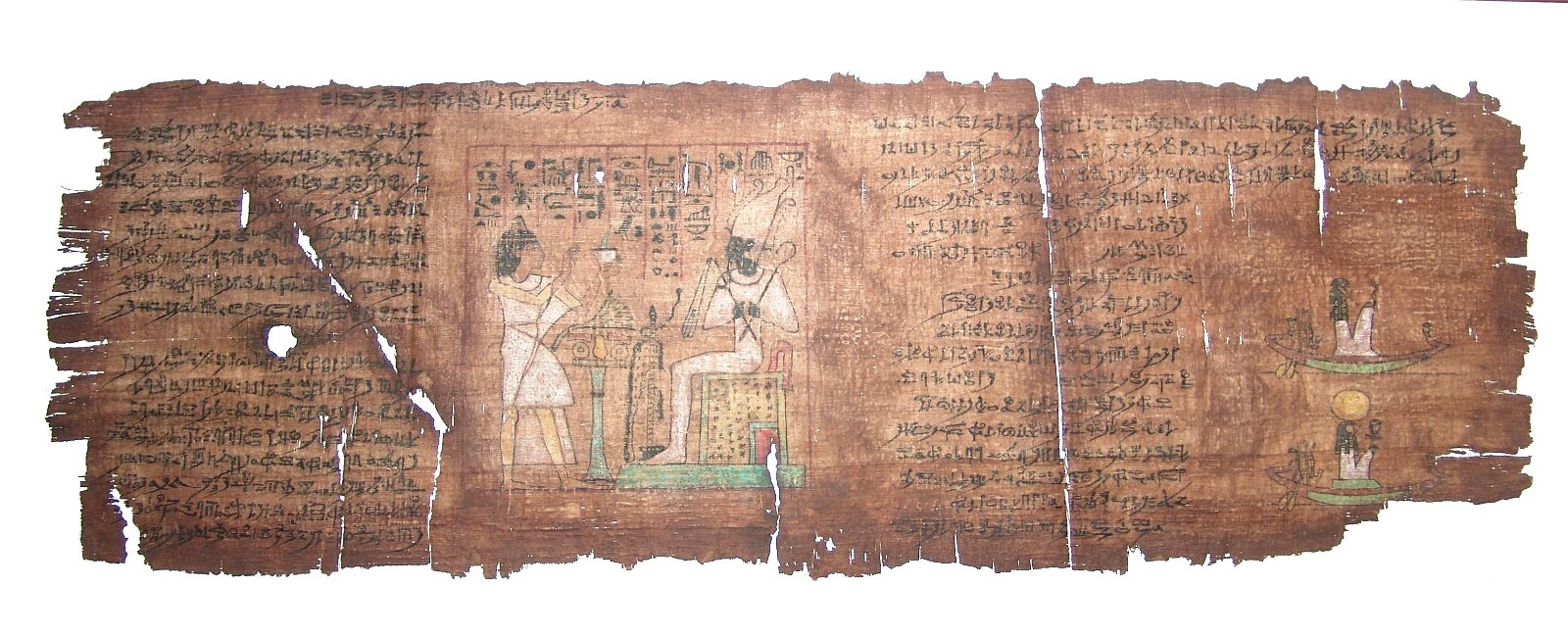 An outstanding Egyptian panel from a Book of the Dead