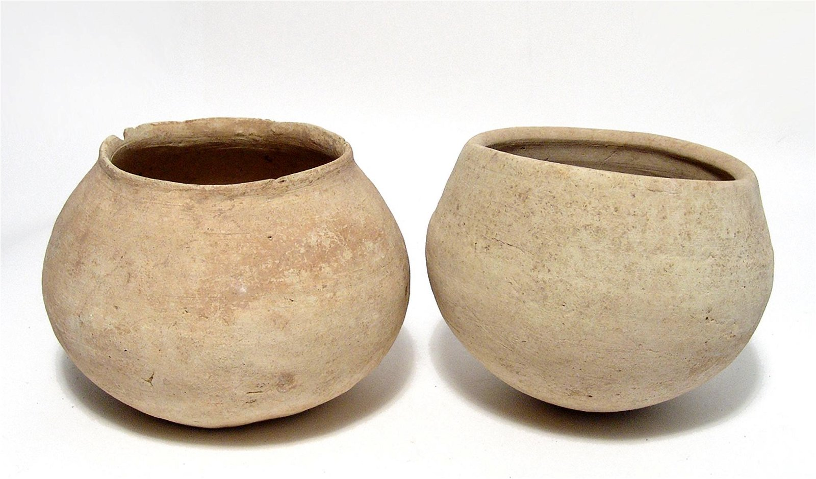 A pair of large Bronze Age round vessels, Holy Land
