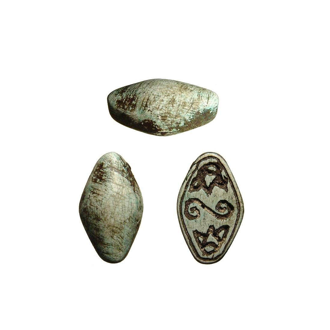 Nice Egyptian steatite cowroid, 2nd Intermediate Period