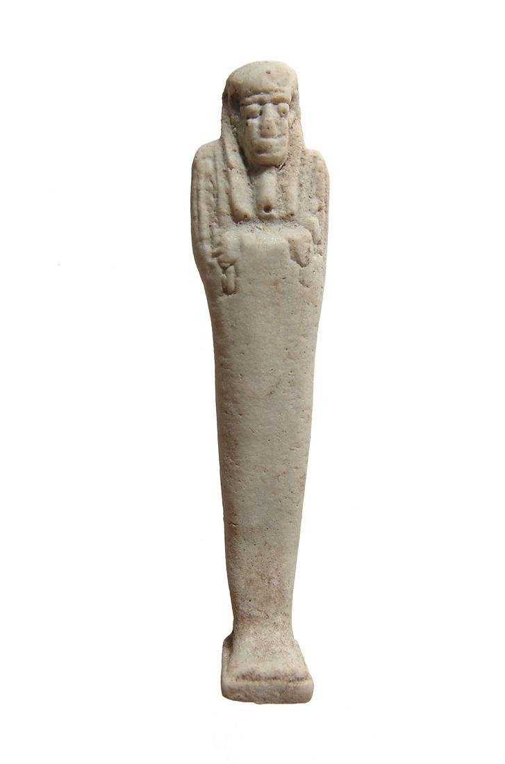 Egyptian faience ushabti, 30th Dynasty - Ptolemaic