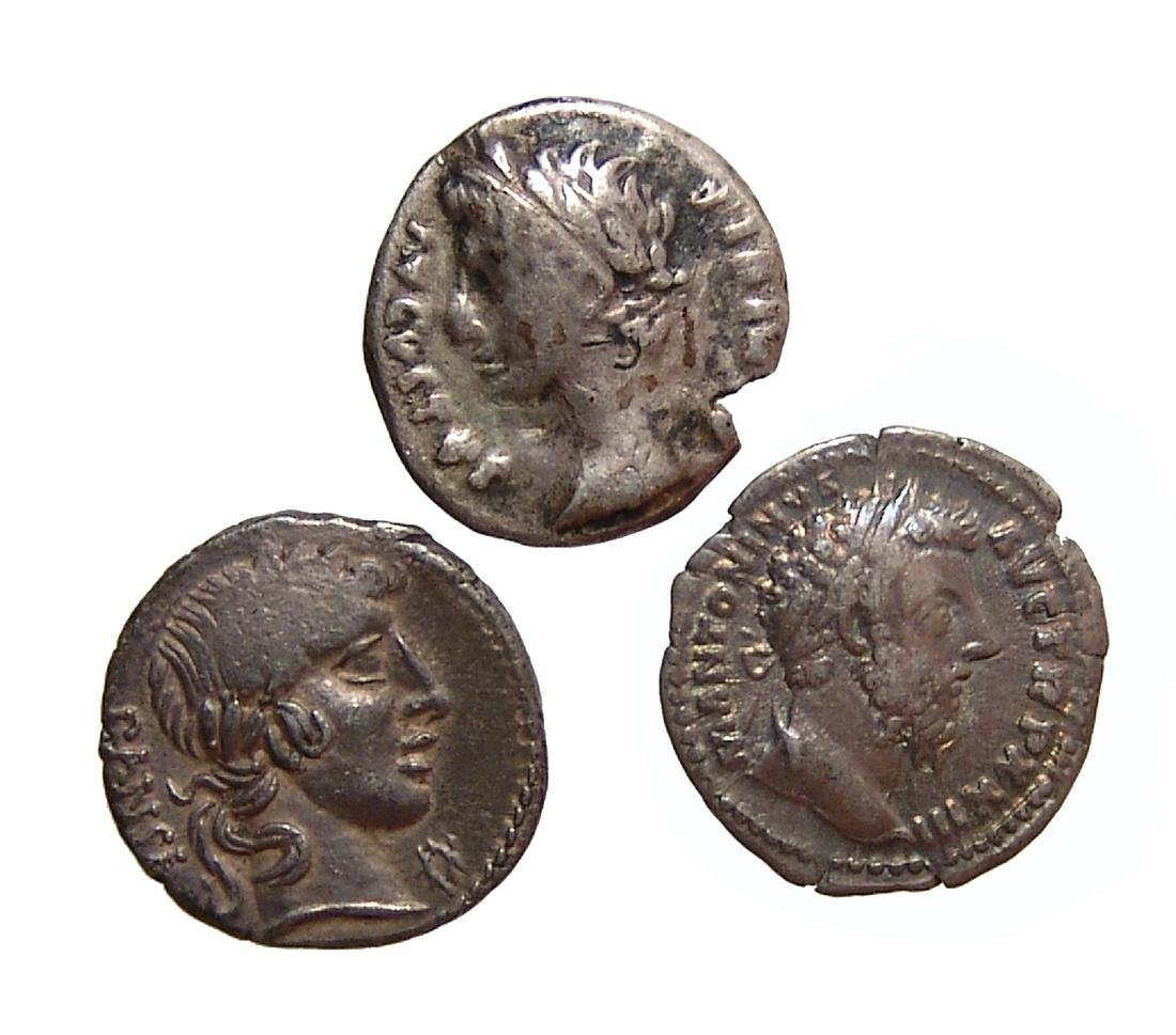 A lot of 3 silver Roman silver coins