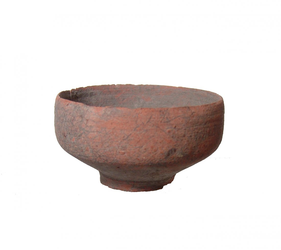 A Roman ceramic footed bowl