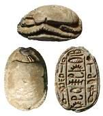 A beautiful Egyptian steatite scarab