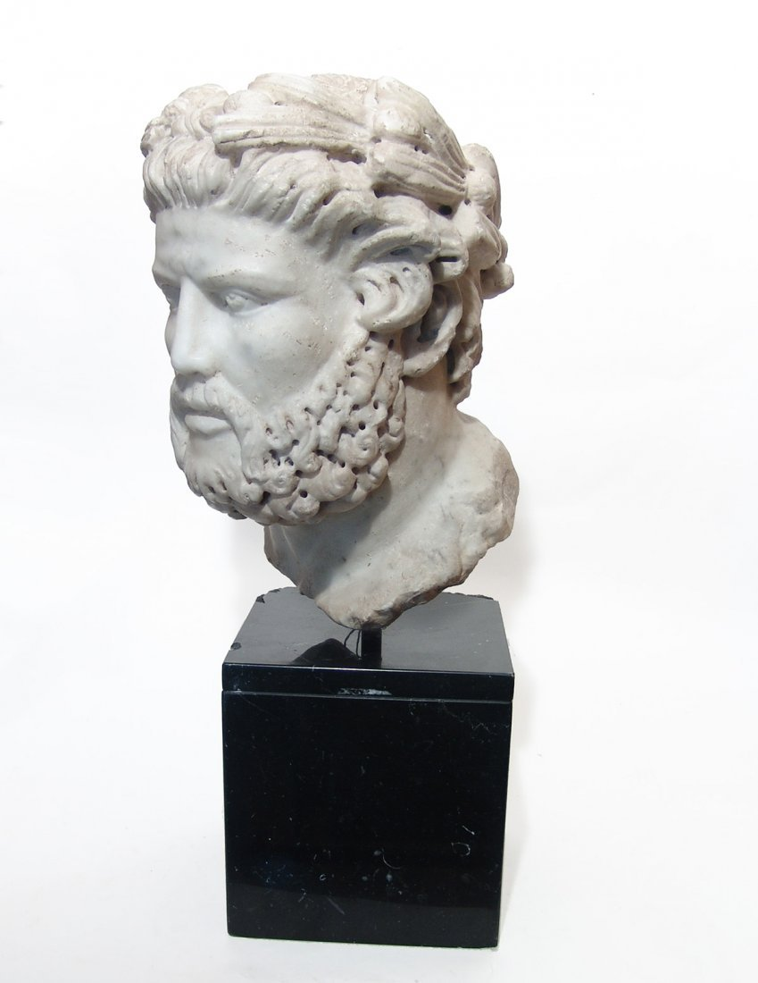 A fantastic Roman marble head of an athletic victor