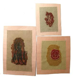 A lot of 3 Coptic textile fragments, Egypt