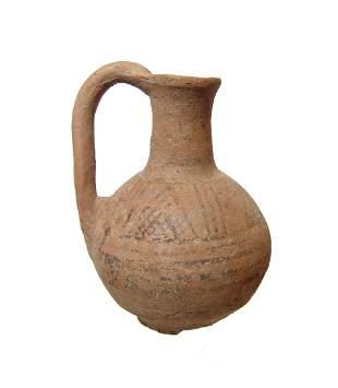 Khabur ware ceramic bichrome juglet, Old Assyrian
