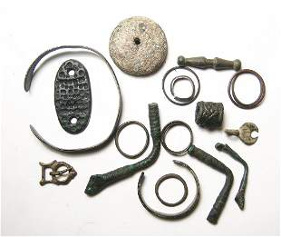 A group of mixed bronze objects from the Holy Land