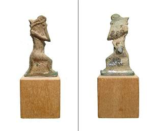 Rare Egyptian amulet of snake-headed god Nehebkau