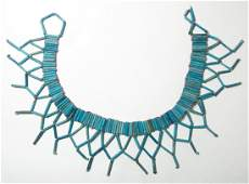 An attractive faience beaded collar, Late Period