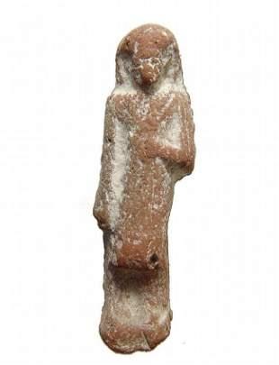 An Egyptian terracotta 'Reis' or overseer ushabti