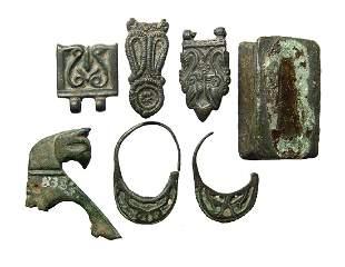 A nice group of 7 Seljuk bronze objects