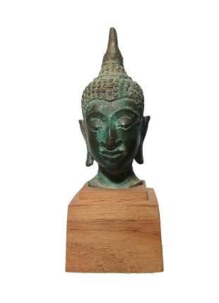 A nice bronze head of Buddha, Thailand