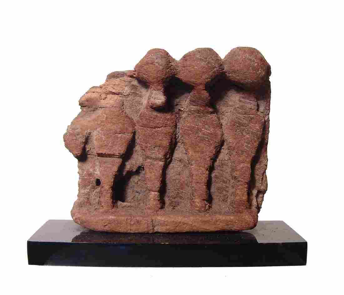 Interesting Egyptian wooden relief depicting cobras