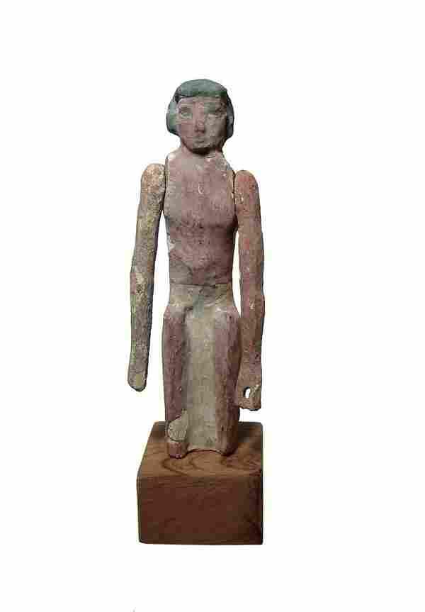A nice Egyptian painted wood figure, Middle Kingdom