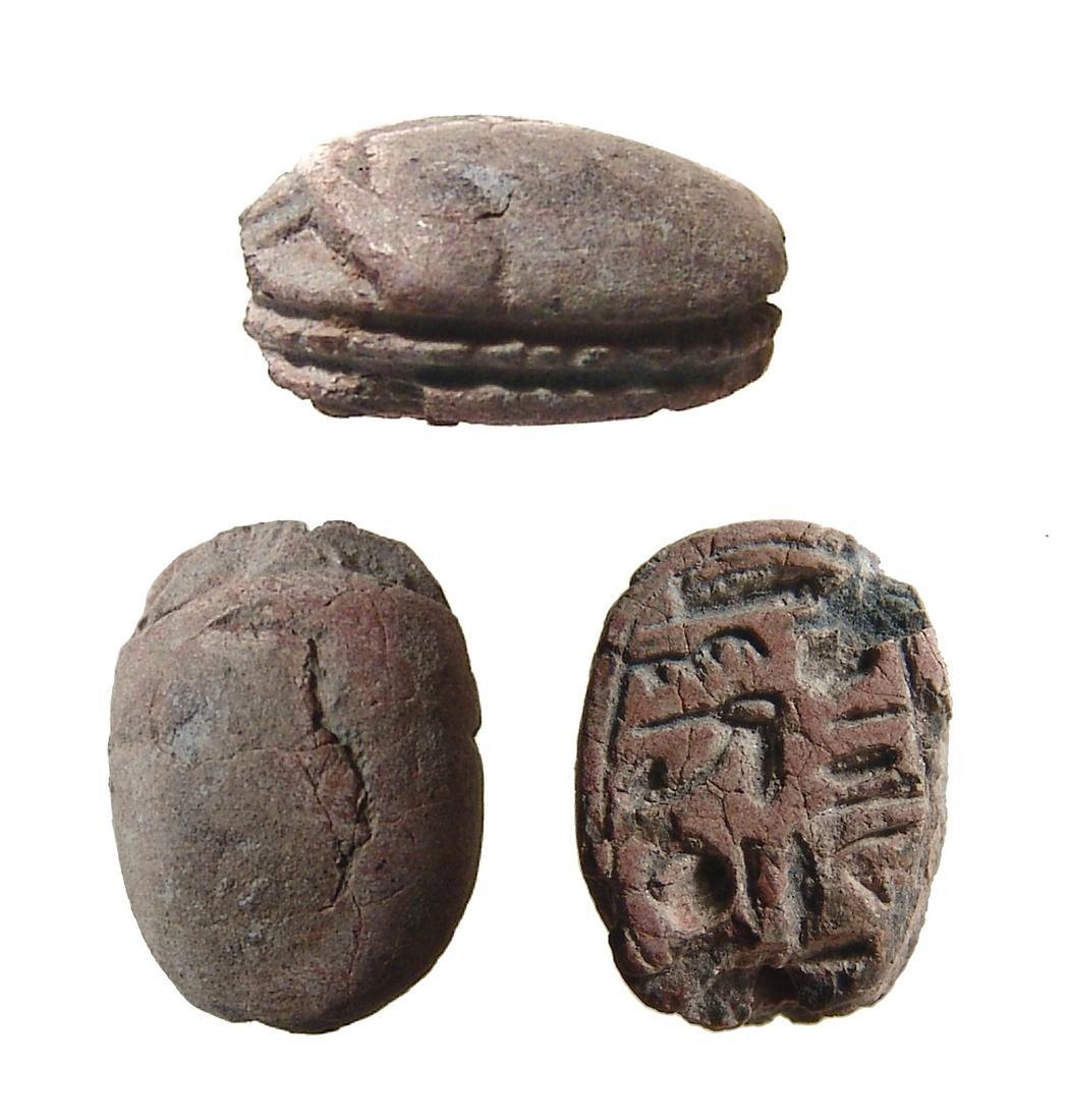 An Egyptian steatite scarab, New Kingdom