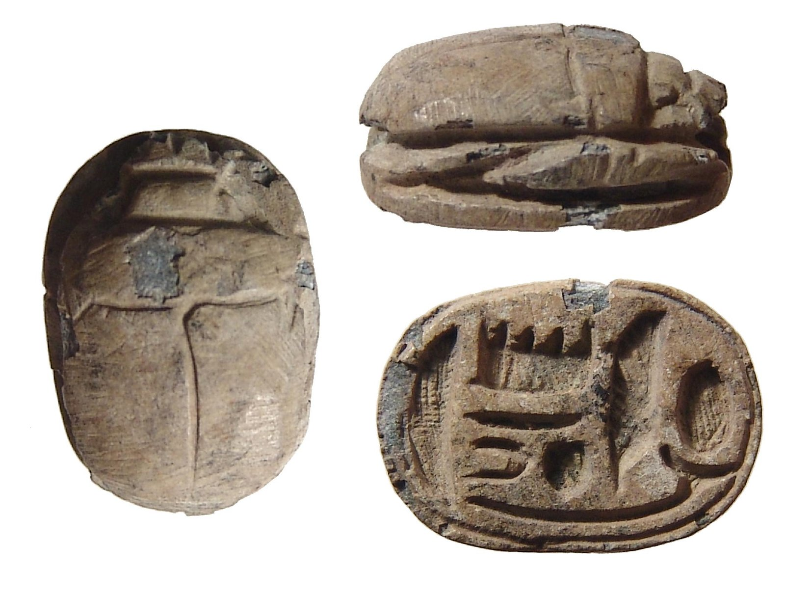A nice Egyptian steatite scarab, Late New Kingdom
