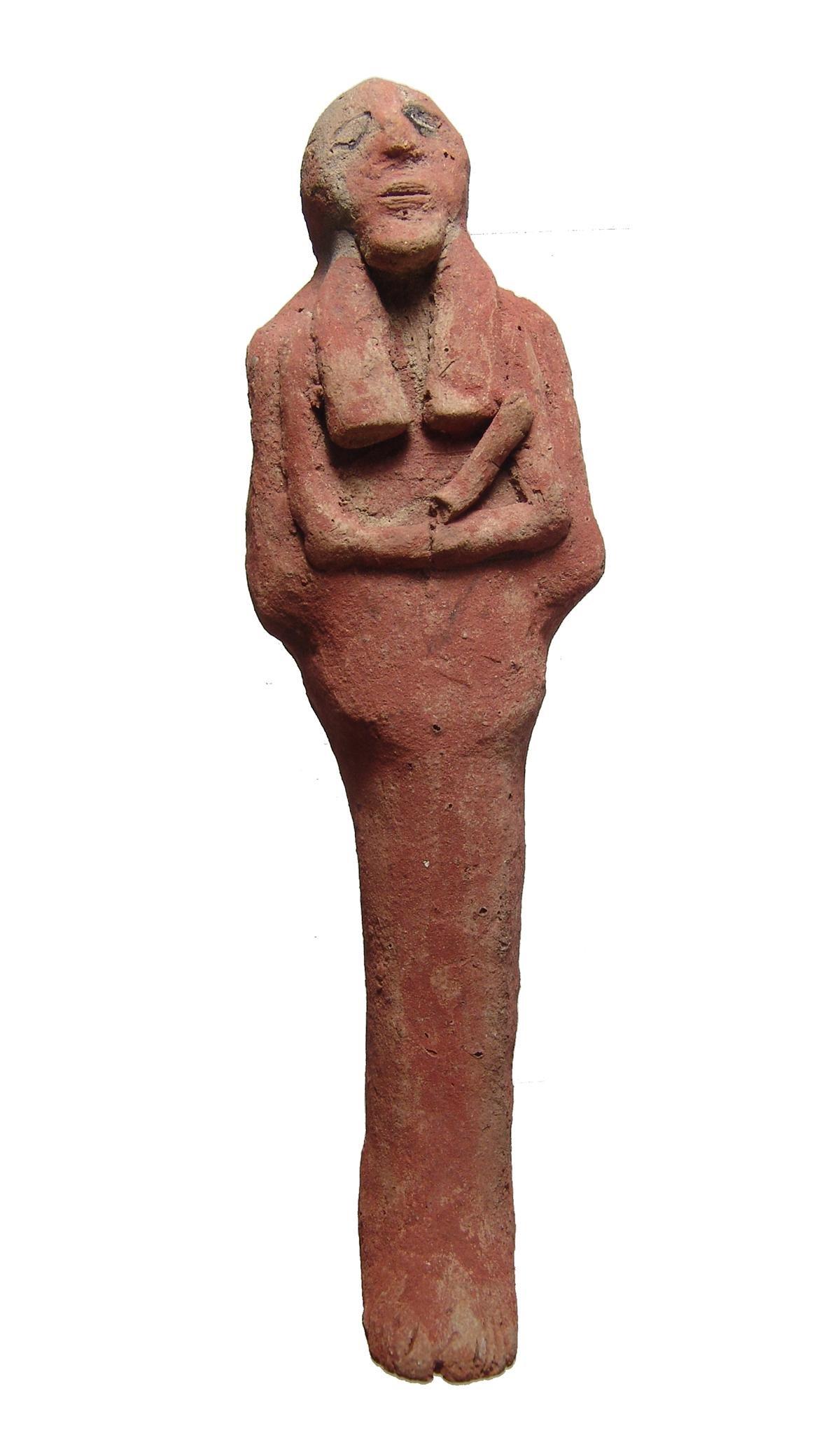 Large Egyptian terracotta ushabti, Late New Kingdom